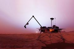 Station on the planet Mars. Elements of this image were furnished by NASA