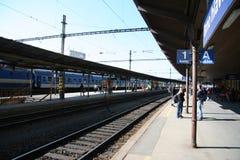 Station_platform del treno di Brno Fotografia Stock