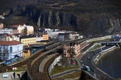 Station principale dans Usti NAD Labem Image libre de droits