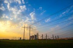 Station puissance de l'électro de la chaleur Images stock