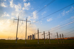 Station puissance de l'électro de la chaleur Photo stock