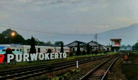 Station of purwokerto Stock Image