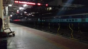 Station raiway de dhanbad d'Inde photo libre de droits