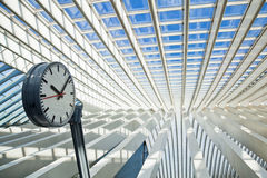 Station roof designed by Calatrava Royalty Free Stock Image