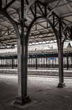 Station Roosendaal. A picture of the empty Roosendaal Station in low saturation Royalty Free Stock Photo