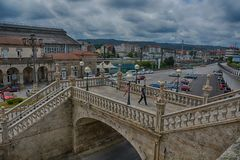 Station, Santiago de Compostela Royalty-vrije Stock Foto's