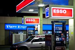 Station service d'Esso Photographie stock