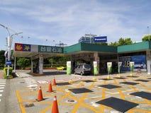 Station service de groupe de plastiques de Formose à l'intérieur de Taïpeh Songshan Airpo Images libres de droits