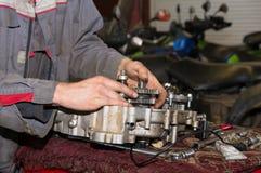 Station service de réparation de moteur Photo libre de droits