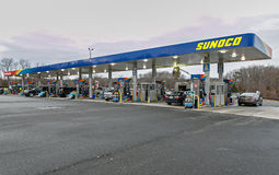 Station service de Sunoco Image libre de droits