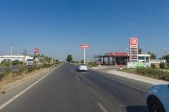 Station-service Lukoil Photographie stock libre de droits