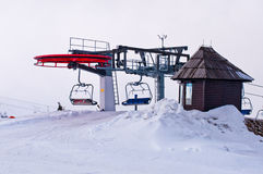 Station of Ski lift Royalty Free Stock Photos