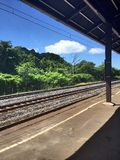 Station. Small old railway station in Japan Royalty Free Stock Images