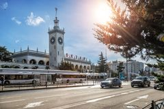 Station in Sotchi Royalty-vrije Stock Afbeeldingen