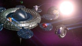 station spatiale 3d illustration libre de droits