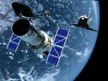 Station spatiale Photo stock