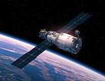 Station spatiale dans l'espace illustration stock