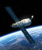 Station spatiale satellisant la scène d'Earth Photo libre de droits