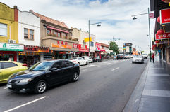 Station Street in Box Hill, Melbourne Stock Images