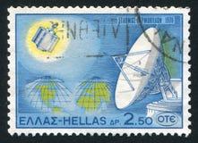Station terrestre et hémisphères Images libres de droits