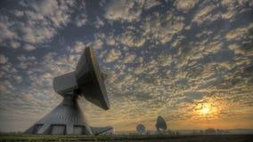 Station terrestre satellite banque de vidéos
