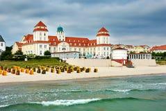 STATION THERMALE à la mer baltique Kurhaus Binz Photos libres de droits