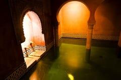 station thermale arabe de groupe Photos libres de droits