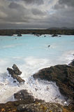 Station thermale bleue de lagune, Islande Images libres de droits