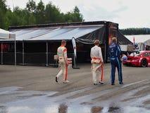 Station thermale - course de Francorchamps Belgique GT4 Image libre de droits