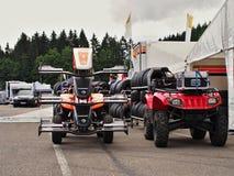 Station thermale - course de Renault de formule de Francorchamps Belgique Image libre de droits