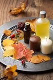 Station thermale d'automne et aromatherapy Photographie stock