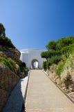 Station thermale de bâtiments historiques d'été de Kalithea Rhodos Grèce Image stock