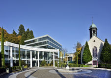 Station thermale de Caracalla et église d'hôpital, Baden-Baden, Allemagne 10 Images stock
