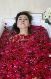 Station thermale de pétale de Rose photos libres de droits