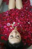 Station thermale de pétale de Rose photo libre de droits