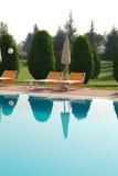 STATION THERMALE de piscine Photo libre de droits