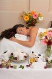 Station thermale de Skincare de massage photographie stock libre de droits