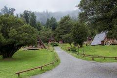 Station thermale en parc national de Puyehue dans le Patagonia chilien photo stock