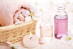 Station thermale et aromathérapie Photos stock