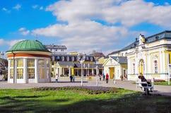 Station thermale et hôtel Harvey de Kur dans Frantiskovy Lazne Image libre de droits