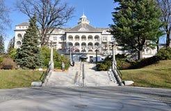 Station thermale et ville Jesenik, République Tchèque, l'Europe image stock