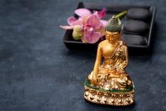 Station thermale, méditation et concept de relaxation image stock