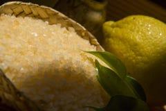 STATION THERMALE organique de citron Images libres de droits
