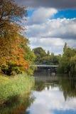 Station thermale royale de Leamington de jardins de Jephson Image libre de droits