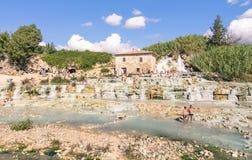 Station thermale thermique naturelle dans le Saturnia Italie Image libre de droits