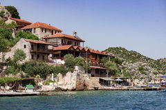 Station touristique sur la côte Photo libre de droits