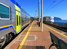 Station van Genoa Nervi Stock Foto's