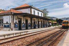 Station van Pinhao, Portugal stock afbeelding