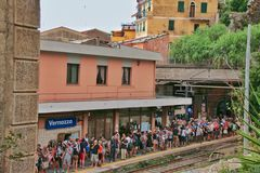 Station Vernazza royalty-vrije stock foto's