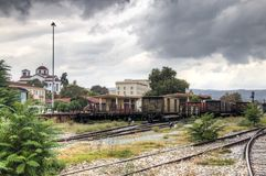 Station in Volos, Griekenland Royalty-vrije Stock Afbeelding